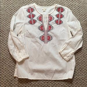 Jcrew Factory Embroidered blouse